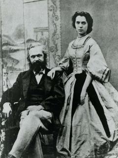 Marx mit seiner Tochter Jenny